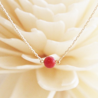 K18 rouge red coral pendant necklace k18 rouge red coral pendant necklace mozeypictures Gallery