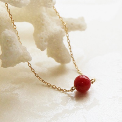 K18 rouge red coral pendant necklace k18 rouge red coral pendant necklace mozeypictures Choice Image