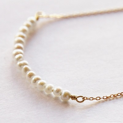 K18 neige waterpearl bar necklace k18 neige waterpearl bar necklace mozeypictures Images